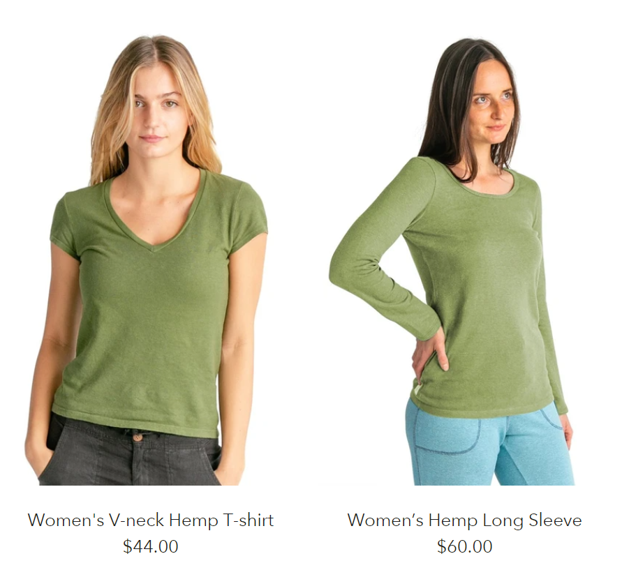 hemp clothing for women
